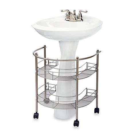 bathroom sink top organizer rolling organizer for pedestal sink bed bath beyond