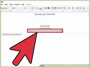 how to create an apa style title page via google drive 12 With google docs title page