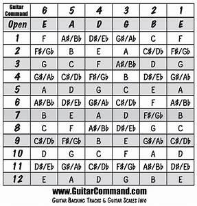 Guitar Fretboard Notes Chart