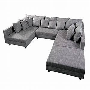 Design Ecksofa Mit Hocker Loft : design sofa loft xxl mit hocker strukturstoff anthrazit skandinavische m bel ~ Bigdaddyawards.com Haus und Dekorationen