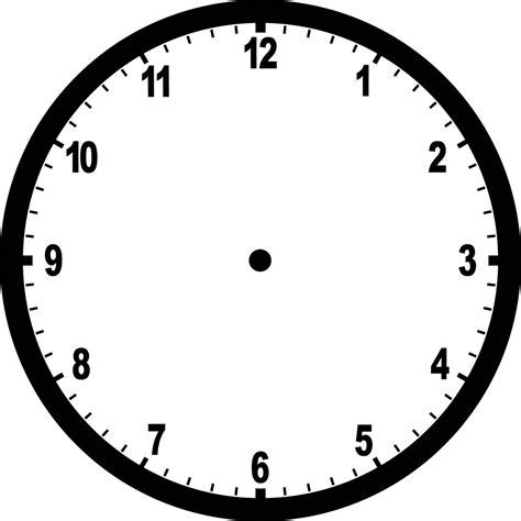 printable analog clock face clipart