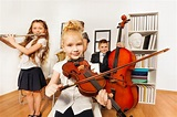 Performance Of Kids Who Play Musical Instruments Stock ...