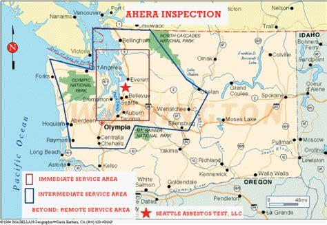 service area  ahera inspection asbestos testing ahera