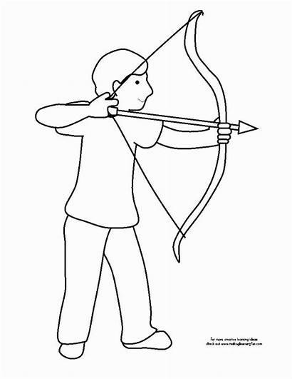Coloring Bow Arrow Arco Flecha Menino Colorir