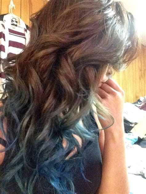 Brown To Blue Ombre Hair My Originals Pinterest Blue