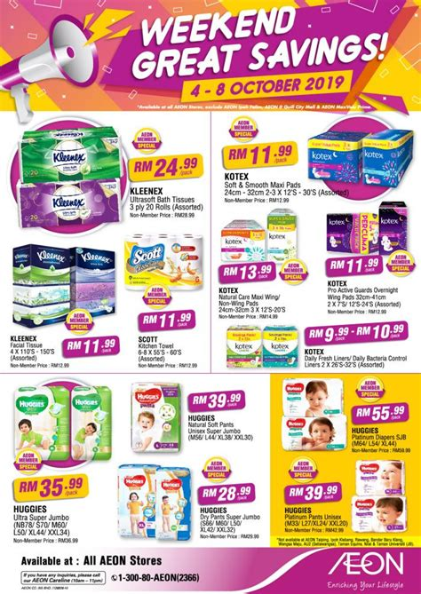 AEON Weekend Great Savings Promotion (4 October 2019 - 8 ...