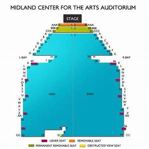 Midland Center For The Arts Seating Chart Vivid Seats
