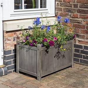 rowlinson, alderley, grey, rectangular, planter