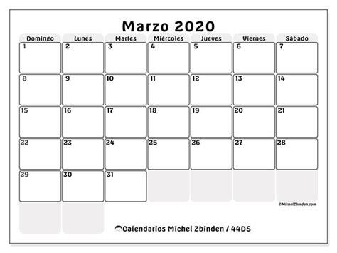 foto de Calendario marzo 2020 44DS Michel Zbinden ES