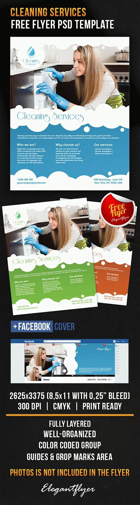 Cleaning Services Bi Fold Template By Elegantflyer Cleaning Services Free Flyer Psd Template By Elegantflyer