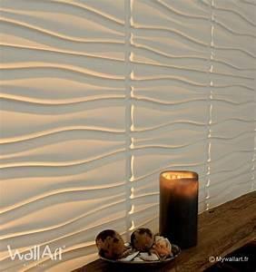Panneau Mural Decoratif Pas Cher : rev tement mural panneaux muraux 3d flows ~ Edinachiropracticcenter.com Idées de Décoration
