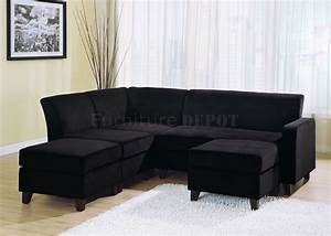 Nice sectional sofas black 9 black microfiber sectional for Black sectional sofa
