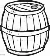 Barrel Cartoon Wooden Keg Clipart Vector Drawn Alcohol Clip Hand Beer Wood Sketch Coloring Silhouette Illustration Cliparts Antique Drink Background sketch template