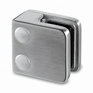 Klemmprofil Glas 8mm : square glass clamp for glass up to 10mm thickness flat mount s3i group ~ Frokenaadalensverden.com Haus und Dekorationen