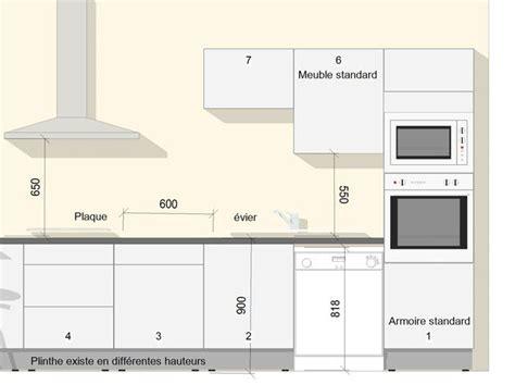hauteur plan de travail cuisine a quelle hauteur les meubles hauts ou 224 quelle hauteur la