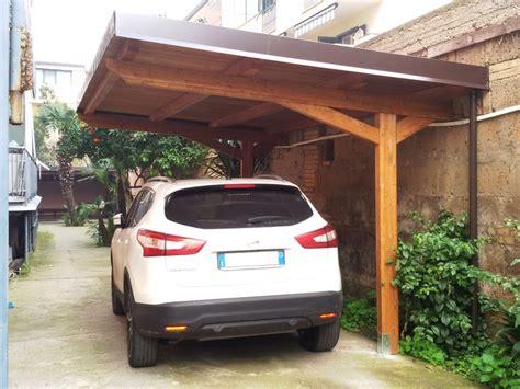 tettoie auto in legno carport per auto con puntoni