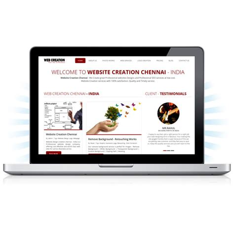 Creation Website by Web Design Creation Website Redesign Company In Chennai