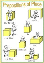 english worksheets prepositions  place worksheets page