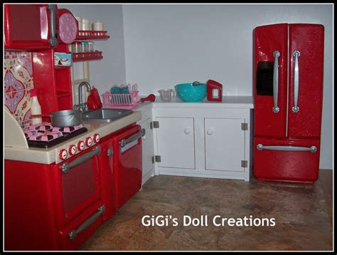 18 Inch Doll Kitchen Furniture Gigi 39 S Doll And Craft Creations American Doll Kitchen And Custom Cabinet Tutorial