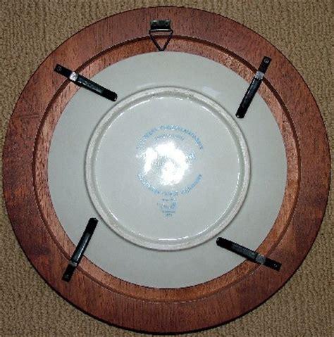 plate frames  single red walnut finish wood plate display frames