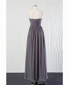 simple long grey bridesmaid dress in chiffon for summer With simple long dresses for weddings