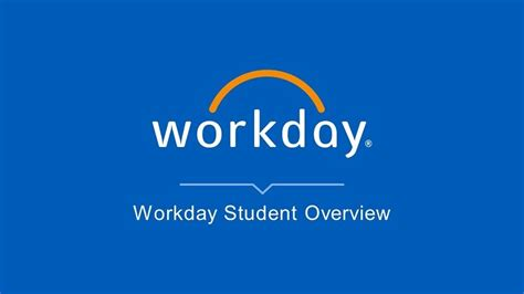 Workday Student Overview - YouTube