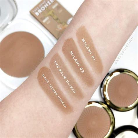 milani silky matte bronzing powder swatches bronzing