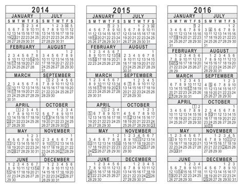 year calendar