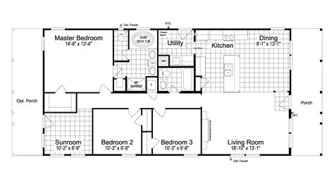 great escape  manufactured home floor plan