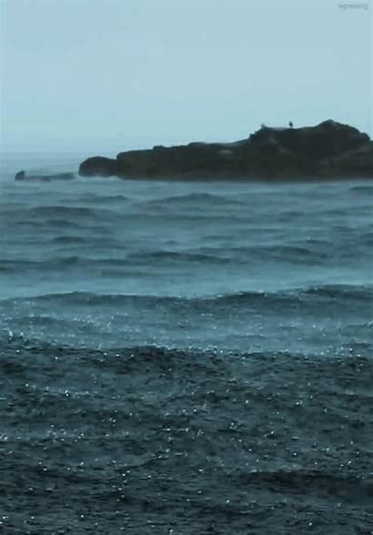 Ocean Dark Grunge Sad Rain Gifs Animated