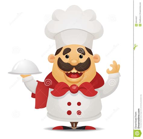 cartoon chef royalty  stock photography image