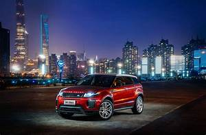 Wallpaper Range Rover Evoque, red, town, night, Cars
