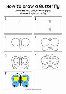 How To Draw A Butterfly Instructions Sheet  Sb8229