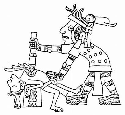 Drawing Aztec Sacrifice Codex Heart Human Drawings