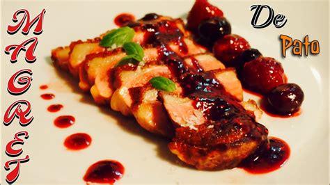 magret de pato en salsa de frutos rojos receta