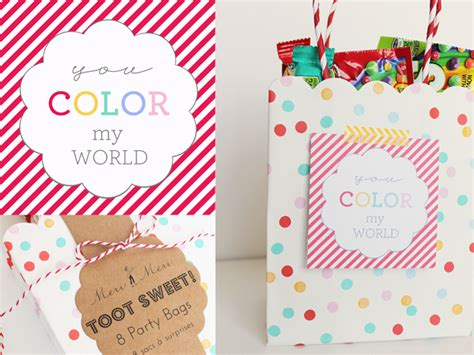 what color is my world diy rainbow treats printables for my s