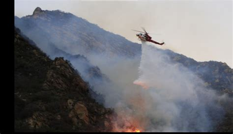 brush fire forces home evacuations canyon news