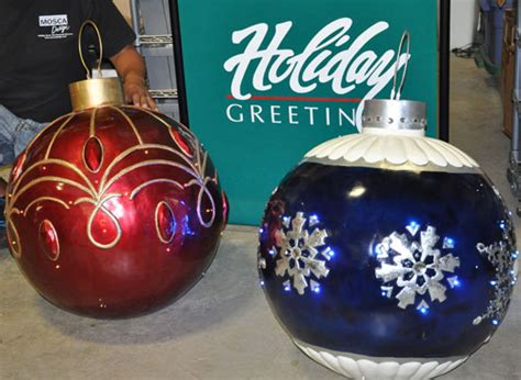 commercial giant holiday christmas balls  mosca design
