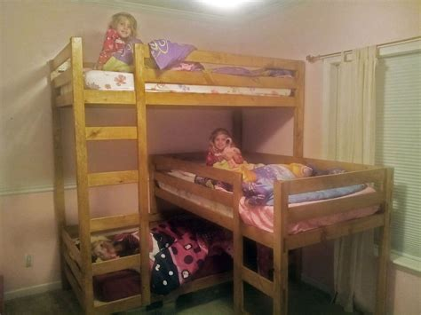 ana white triple bunk bed diy projects