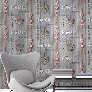 Fine Decor Love Your Home Red/Brown Wallpaper
