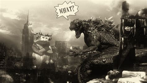 Nigel Vs Godzilla By Xsquallit On Deviantart