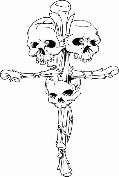 Coloring Gothic Skull Skulls Hell Mintz Rachel