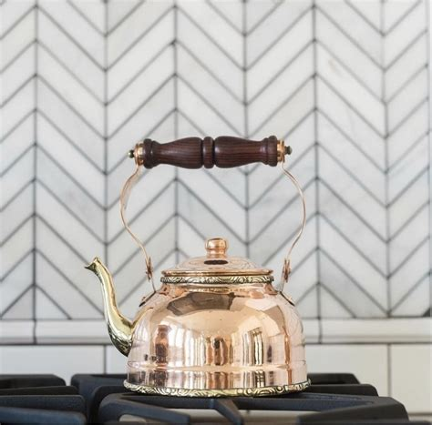 pin  erika howell  copper  silver copper tea kettle tea kettle stovetop kettle
