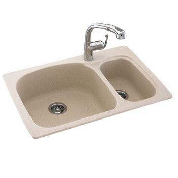 Swanstone KSLS 3322 042 Double Bowl Kitchen Sink   Gray