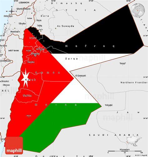 flag simple map  jordan single color  borders