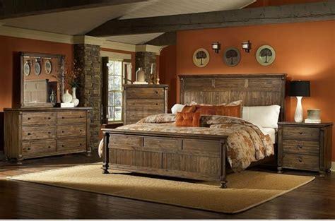 chambre à coucher rustique les meubles rustiques traditionnels créent une ambiance