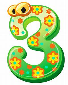 Numbers cute number three clipart image - Clipartix