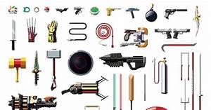 See a Poster of Famous Weapons in Pop Culture -- Vulture