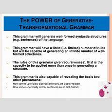 Generative Grammar Power Point Presentation,, Ulfa