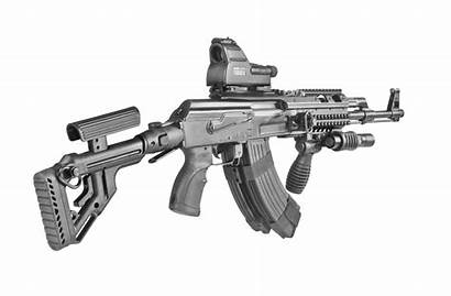 Tactical Ak Polymer Milled Folding Buttstock Uas